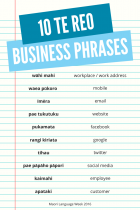 10 Te Reo Business Phases